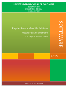 SOFTWARE  2015 PhysicsSensor –Mobile Edition-