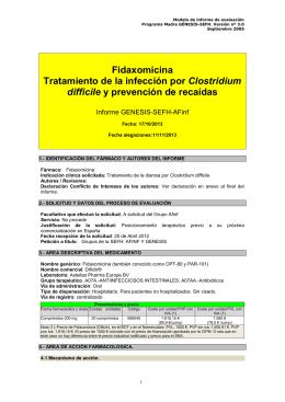 Modelo de informe de evaluación - Sociedad Española de Farmacia