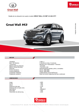 GREAT WALL H3 5MT 2.0 4X4 CITY