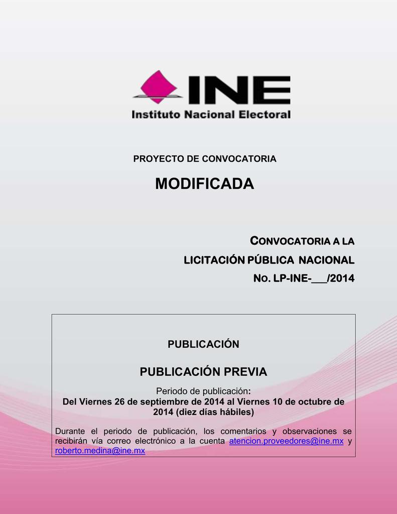 Lp Ine 2014 Instituto Nacional Electoral