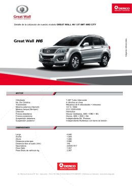 GREAT WALL H6 1.5T 6MT 4WD CITY