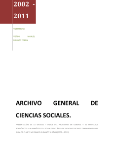 ARCHIVO GENERAL DE CIENCIAS SOCIALES.