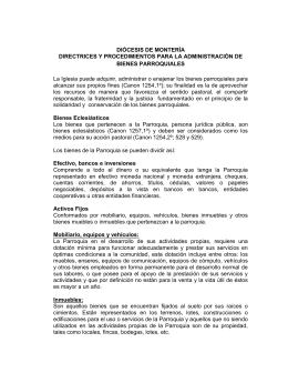 Procedimientos parroquias Diócesis de Monteria