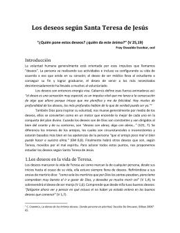 Los deseos según Santa Teresa de Jesús