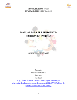 MANUAL PARA EL ESTUDIANTE HABITOS DE