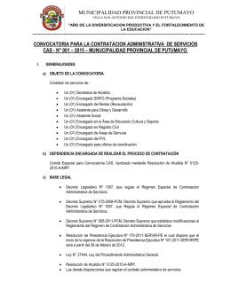 Señores - Municipalidad Provincial de Putumayo