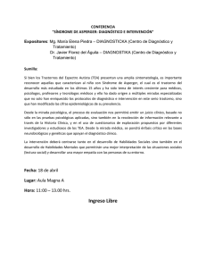 "CONFERENCIA ""SÍNDROME DE ASPERGER: DIAGNÓSTICO E INTERVENCIÓN""  Expositores"