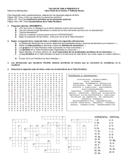 Formato proyectos de aula jugando con la tabla periodica taller de tabla periodica 9 referencia bibliogrfica libro urtaz Image collections