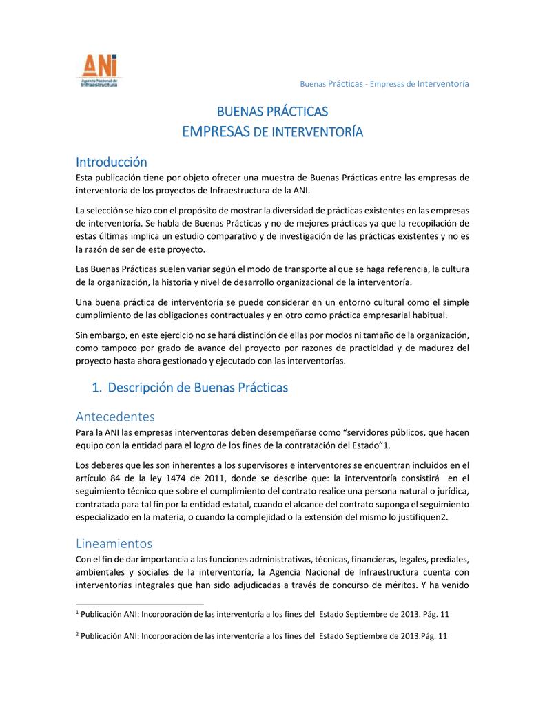 Guía 2 Buenas Prácticas De Interventoría Sept 2015 Intranet