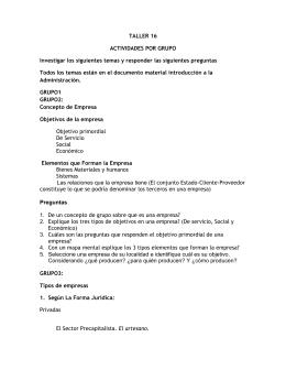 TALLER 16 - SeminarioTallerFaceya