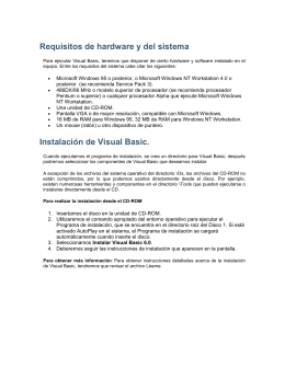 Instalación de Visual Basic.