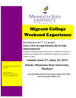 Aplicación del Migrant College Weekend Experience