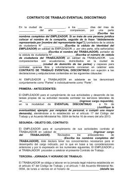 Ejemplo de contrato a plazo fijo de trabajo ecuador for Contrato indefinido ejemplo