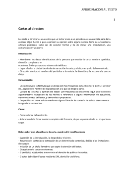 Cartas al director - LenguaLiteraturaLarraona