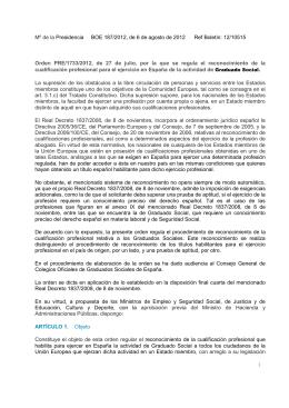 Mº de la Presidencia BOE 187/2012, de 6 de agosto de 2012 Ref