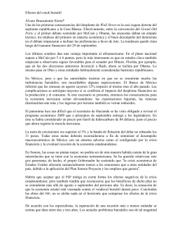 Efectos del crack bursátil  Álvaro Bracamonte Sierra* Wall Street