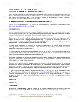 Resolución 484 de 2013_DIAN