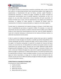 Juan Carlos Vergara Vergara Economista BALANZA DE PAGOS Es