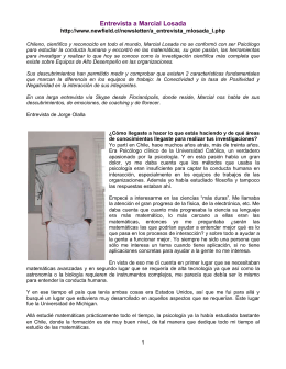 Entrevista a Marcial Losada http://www.newfield.cl/newsletter