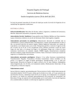 Hospital Ángeles del Pedregal Servicio de Medicina Interna