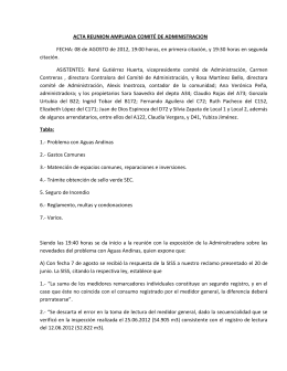 ACTA REUNION AMPLIADA COMITÉ DE ADMINISTRACION