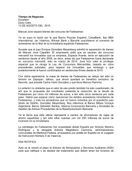 Tiempo de Negocios Excelsior Dario Celis 13 DE AGOSTO DEL  2015