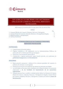 Ley Básica Cámaras de Comercio_Resumen_2 abril 2014