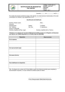 FORM-DBA-03 Requisitos Faltantes