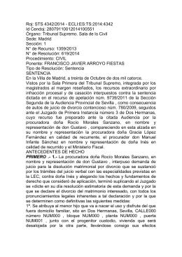 Sentencia TS 30 octubre de 2014 deniega compartida por
