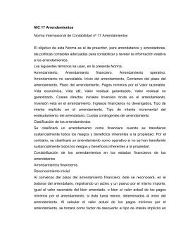 NIC 17 Arrendamientos Norma Internacional de Contabilidad nº 17