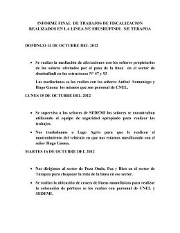 informe final de trabajos de fiscalizacion realizados en la linea s/e