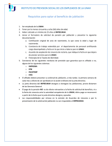 Requisitos para jubilaci#U00f3n
