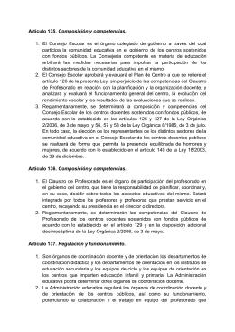 organos colegiados LEA (profesorad y centros)