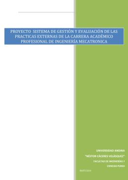 proyecto GESTION Y EVALUACION DE PRACTICAS EXTERNAS 3