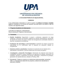 LNA 2.0 - Universidad Politécnica de Aguascalientes