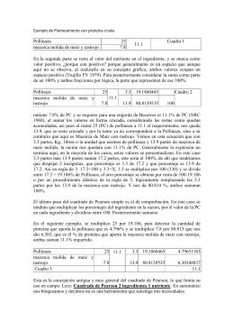 Ejemplo de Planteamiento con proteína cruda. Pollinaza 25 11.1