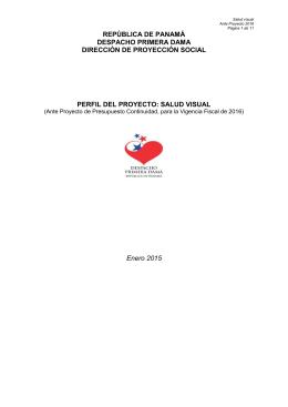 perfil del proyecto: salud visual