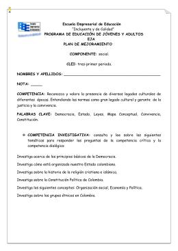 Escuela Empresarial de Educación PROGRAMA DE EDUCACIÓN DE JÓVENES Y ADULTOS EJA
