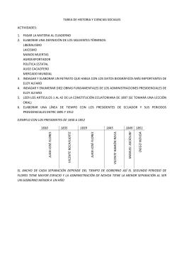 TAREA DE HISTORIA Y CIENCIAS SOCIALES ACTIVIDADES