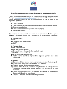 Anexo Requisitos RET