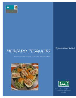 MERCADO PESQUERO Septiembre/2012
