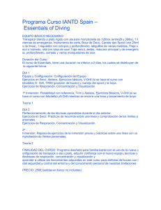 Programa Curso IANTD Spain – Essentials of Diving EQUIPO