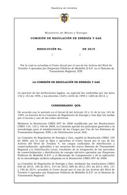 Creg102-2015 - CREG Comisión de Regulación de Energía y