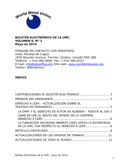 UMC E-Bulletin Mayo 2014 -esp