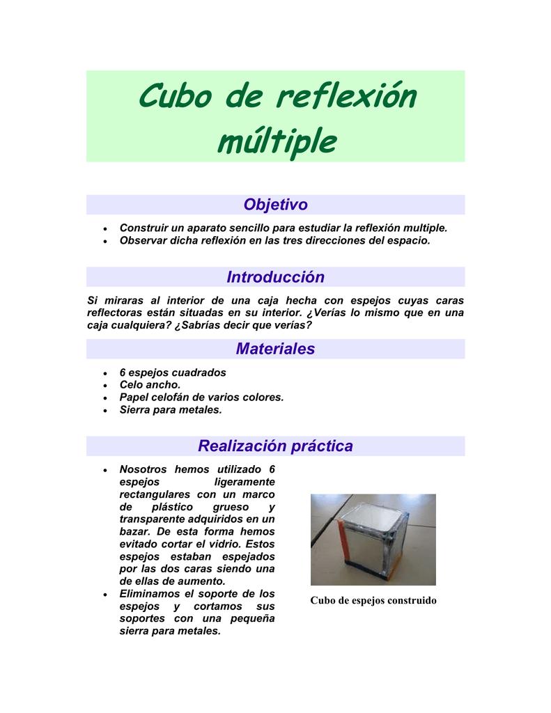 Cubo de reflexión múltiple Objetivo