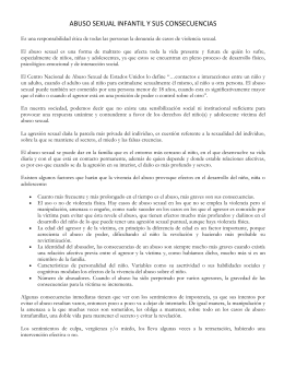 Abuso sexual infantil y sus consecuencias