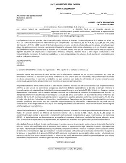 Carta Encomienda