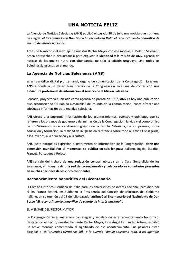 Estructura Noticia Ingles