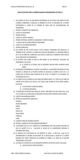 ESCUELA PREPRATORIA OFICIAL No. 26 FÍSICA II GUIA DE