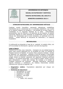 UNIVERSIDAD DE ANTIOQUIA ESCUELA DE NUTRICION Y DIETETICA